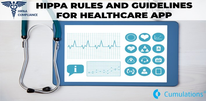 healthcare app should follow HIPAA rules and guidelines